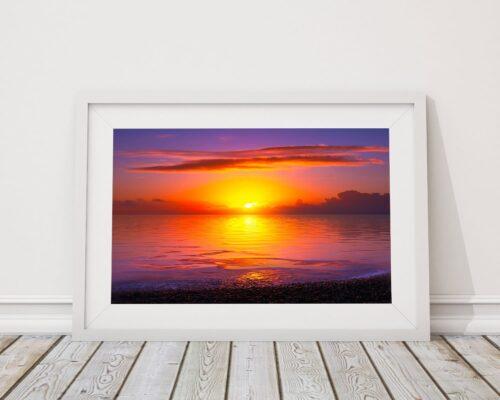 winter sunset framed. Brian Roe