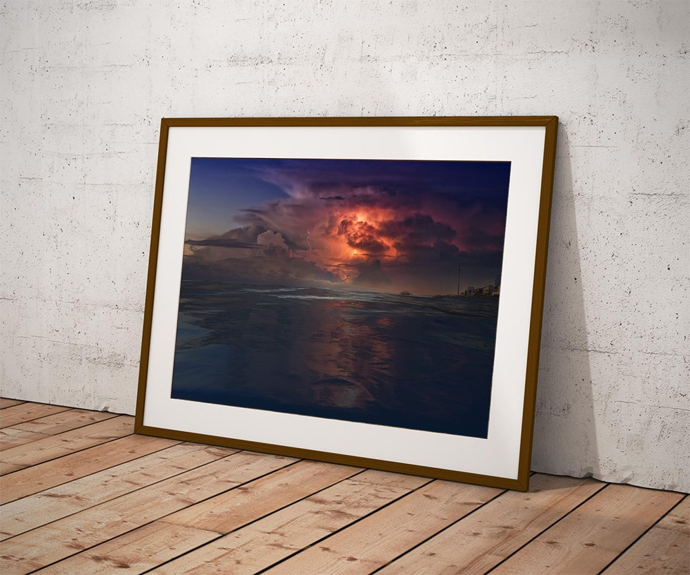 tempest-over the west pier brighton framed by brian roe