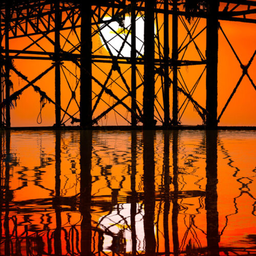 Ironwork sunset by Brian Roe