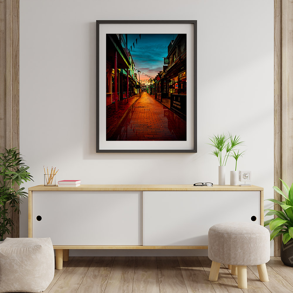 Twilight framed print. Composition Brian Roe