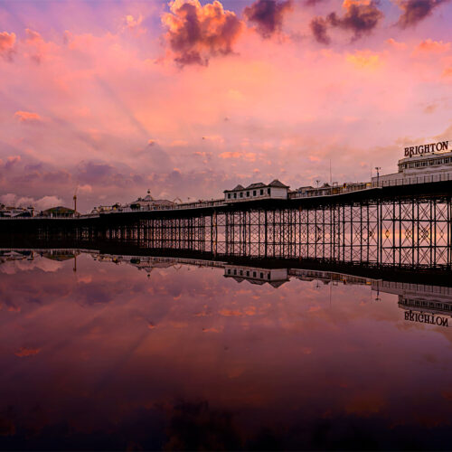 Palace Pier in Rose - By Brian Roe