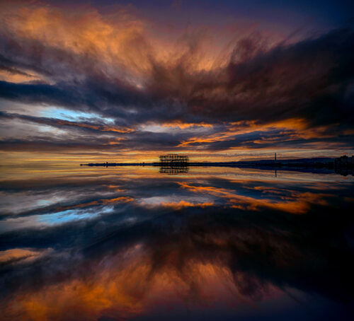 West Pier Reflection. By Brian Roe